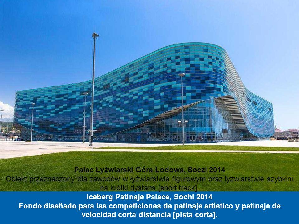 Centrum Łyżwiarskie Adler Arena, Soczi 2014 W tym obiekcie odbędą się zawody łyżwiarstwa szybkiego. Ściany hali lodowiska są przeszklone, dzięki czemu