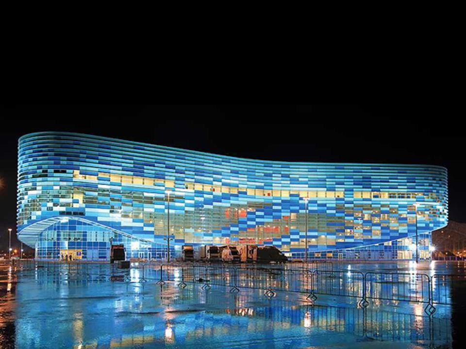 Pałac Łyżwiarski Góra Lodowa, Soczi 2014 Obiekt przeznaczony dla zawodów w łyżwiarstwie figurowym oraz łyżwiarstwie szybkim na krótki dystans [short track].