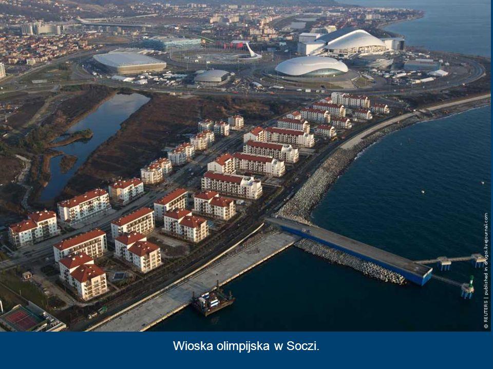 Centrum Curlingu Kostka Lodu, Soczi 2014 Jest to najmniejszy z budowanych w Soczi obiektów sportowych. Po zimowych zawodach zostanie rozmontowany i pr