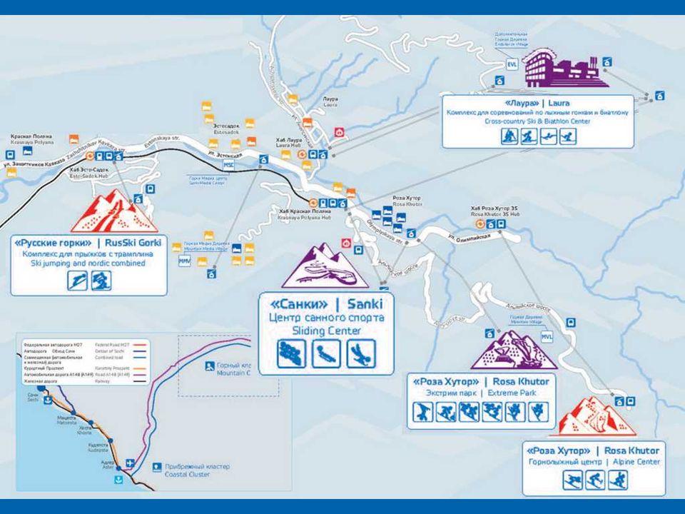 Krasnaja Polana to największy w Rosji kompleks narciarski, nazywany rosyjską Szwajcarią. Krasnaya Polyana, Rusia es la mayor estación de esquí, llamad
