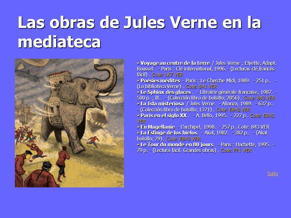 Las obras de Jules Verne en la mediateca Cinco semanas en globo.