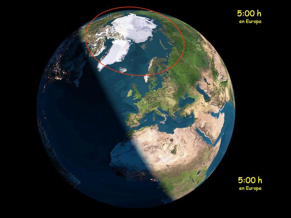 4:00 h en Europa 4:00 h en Europe
