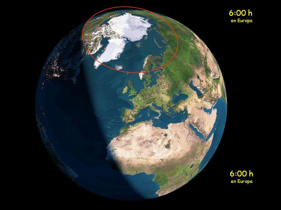 5:00 h en Europa 5:00 h en Europe