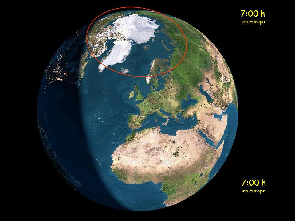 6:00 h en Europa 6:00 h en Europe