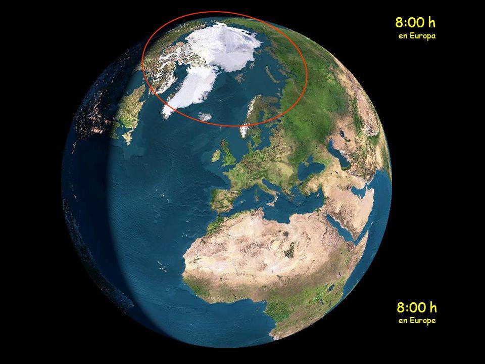 7:00 h en Europa 7:00 h en Europe