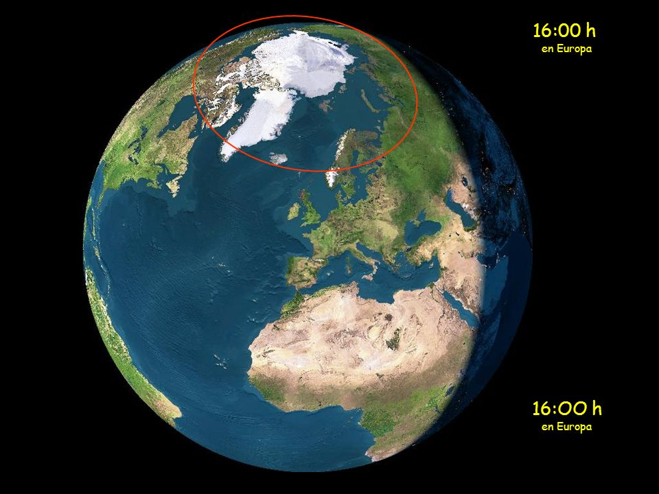 Cuando a medianoche se acerca al círculo polar Ártico, el sol en lugar de esconderse, vuelve a subir.