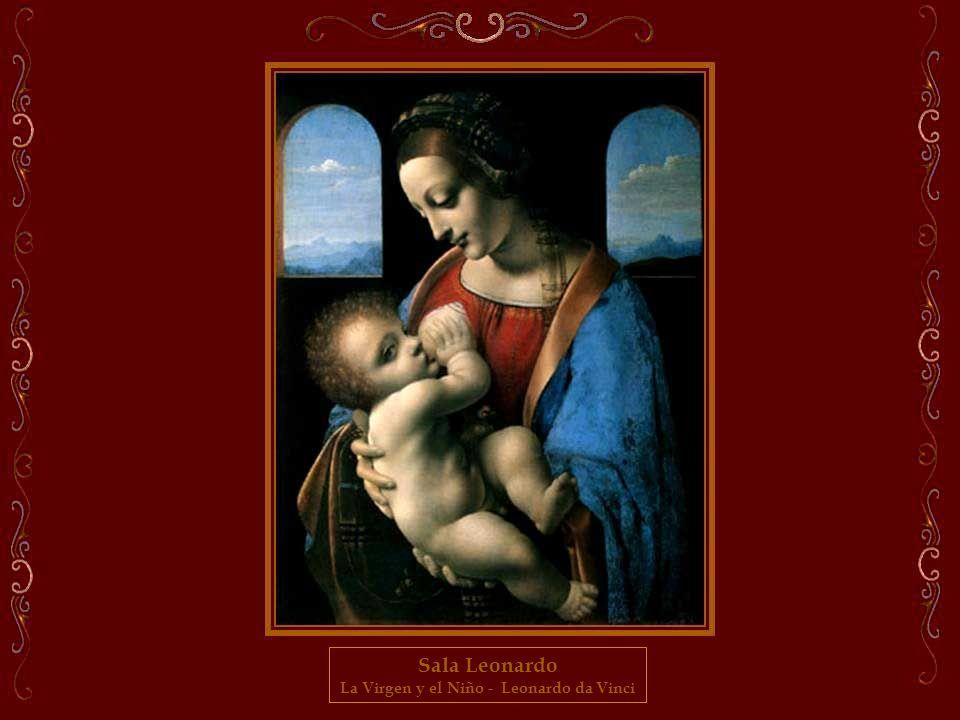 Sala Leonardo Madona con una flor (Benois Madonna) - Leonardo da Vinci