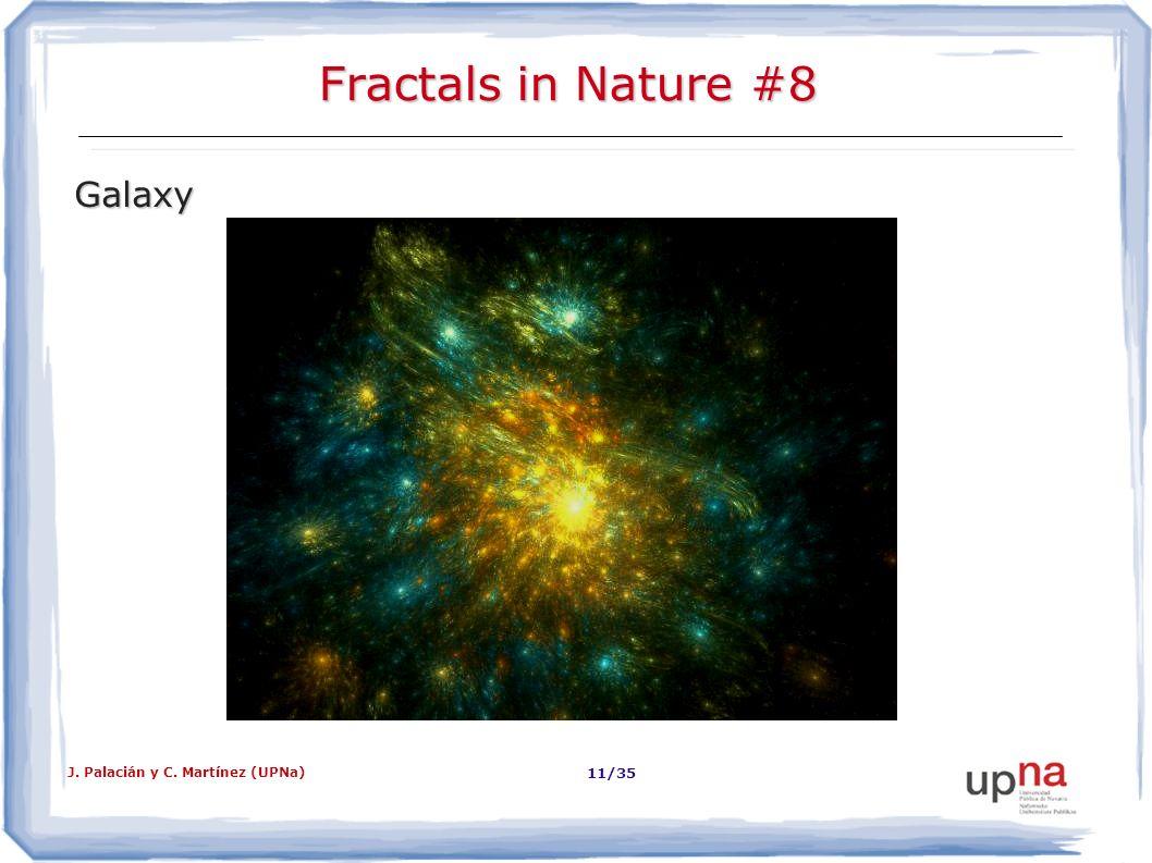 J. Palacián y C. Martínez (UPNa) 11/35 Fractals in Nature #8 Galaxy