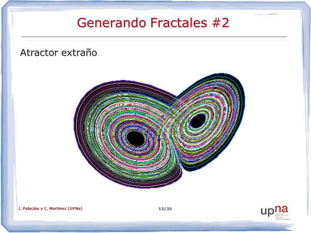 J. Palacián y C. Martínez (UPNa) 13/35 Generando Fractales #2 Atractor extraño