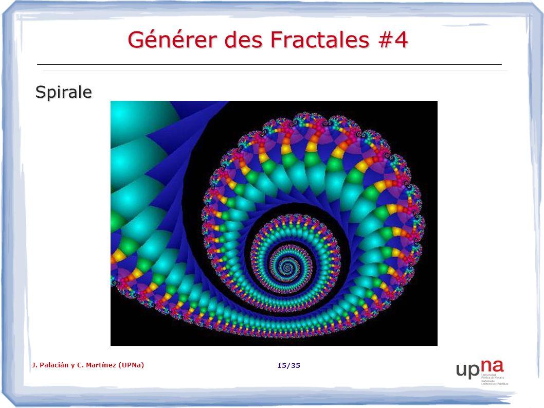 J. Palacián y C. Martínez (UPNa) 15/35 Générer des Fractales #4 Spirale