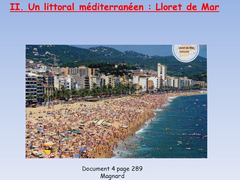 II. Un littoral méditerranéen : Lloret de Mar Document 4 page 289 Magnard