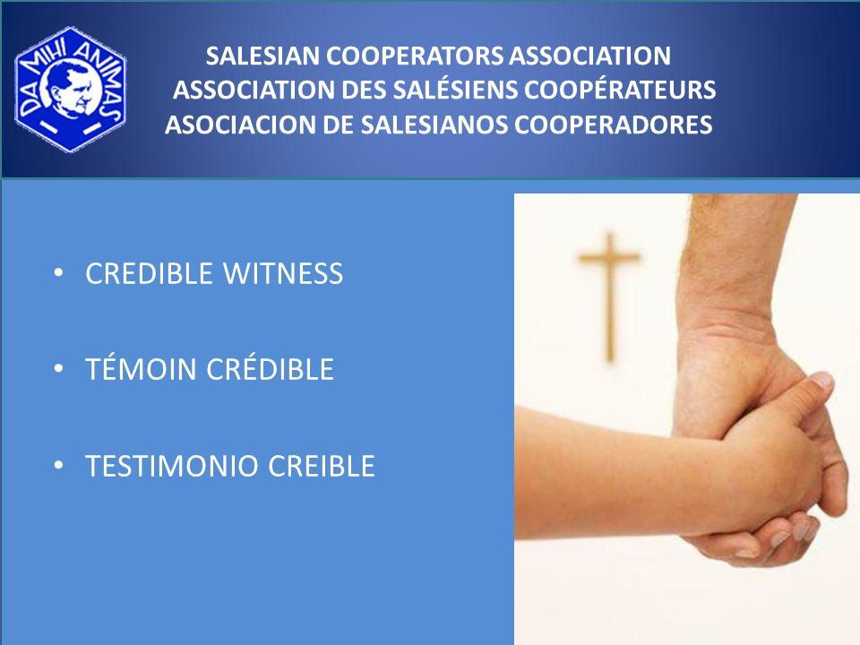 CREDIBLE WITNESS TÉMOIN CRÉDIBLE TESTIMONIO CREIBLE