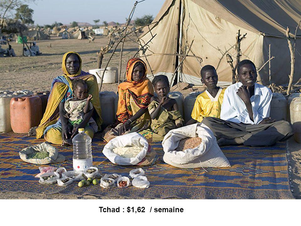 Tchad : $1,62 / semaine