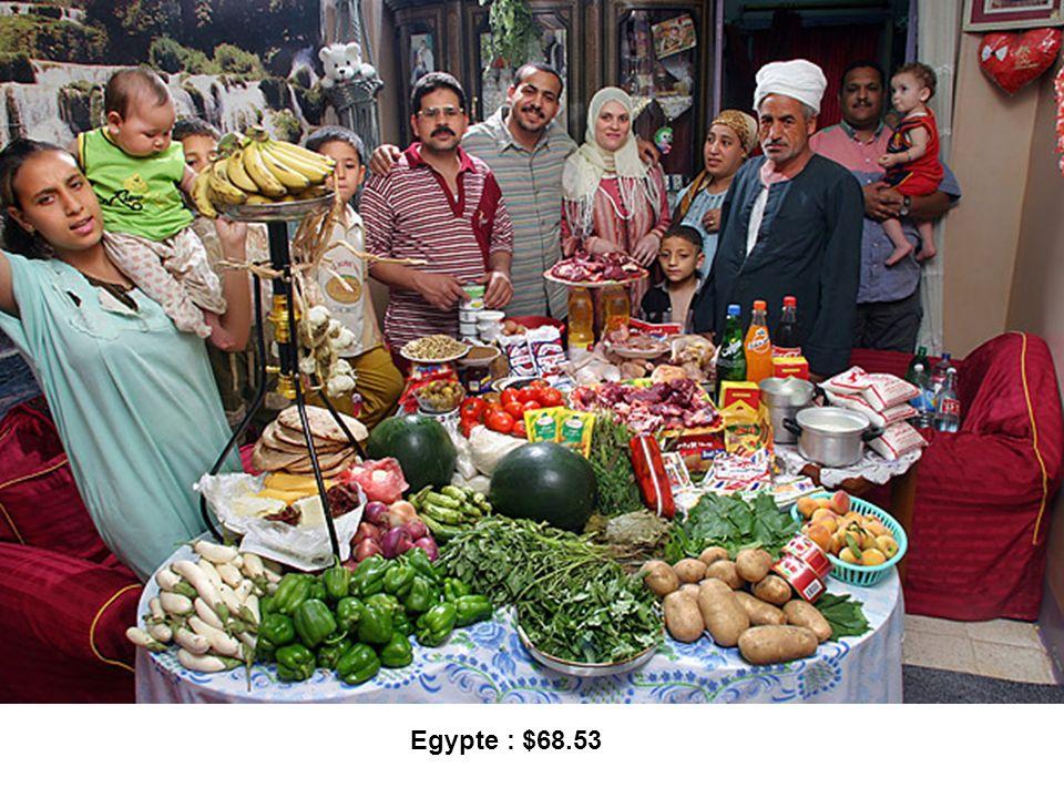 Egypte : $68.53