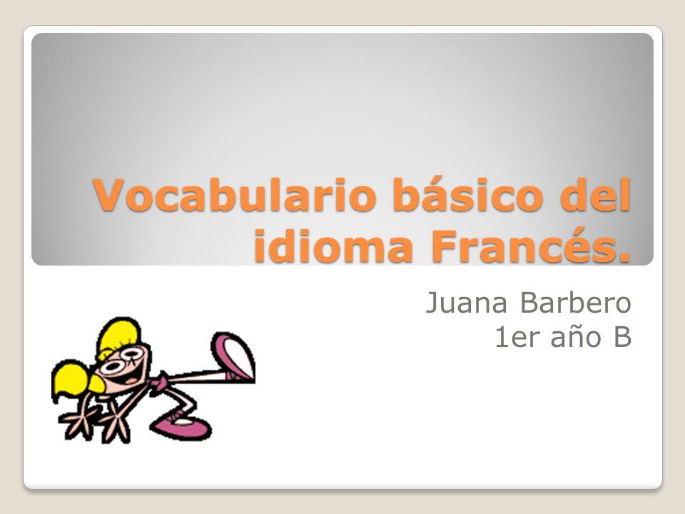 En este software educativo voy a desarrollar el vocabulario básico del idioma Francés; y luego algunos ejercicios sobre lo que aprendimos.
