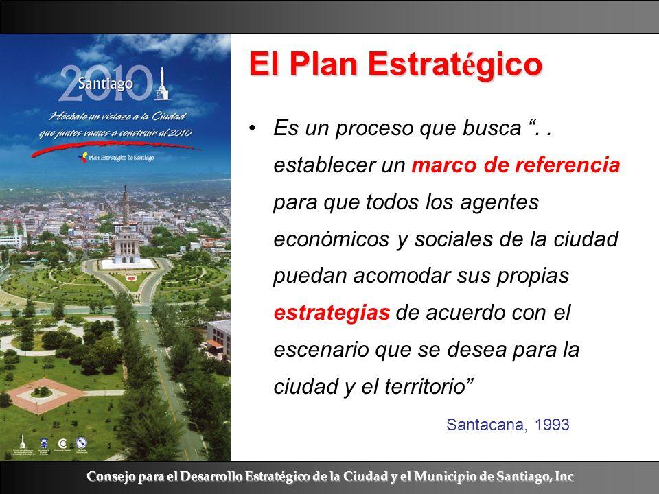Ramón R. Abarca Fernández El Plan Estrat é gico Es un proceso que busca.. establecer un marco de referencia para que todos los agentes económicos y so
