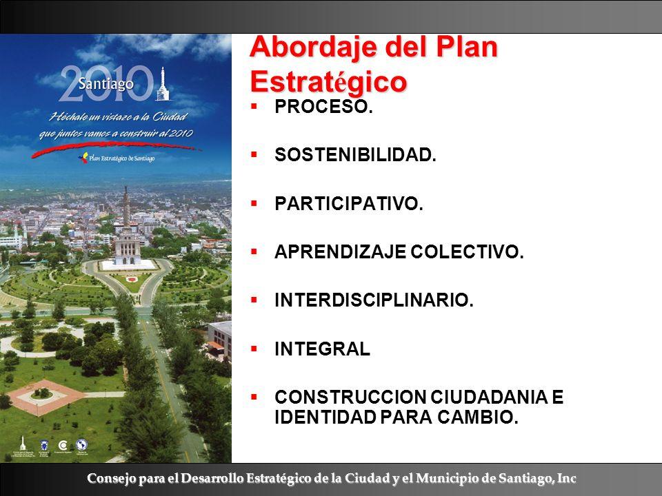 Ramón R. Abarca Fernández Abordaje del Plan Estrat é gico PROCESO. SOSTENIBILIDAD. PARTICIPATIVO. APRENDIZAJE COLECTIVO. INTERDISCIPLINARIO. INTEGRAL