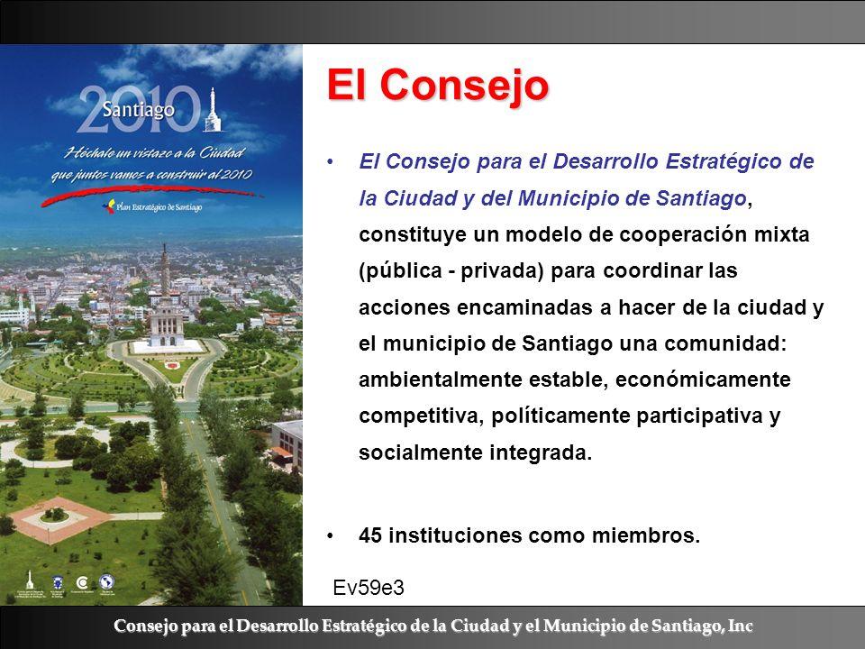 Ramón R. Abarca Fernández El Consejo El Consejo para el Desarrollo Estratégico de la Ciudad y del Municipio de Santiago, constituye un modelo de coope