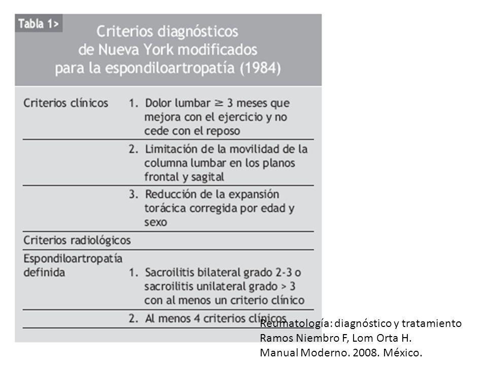 Reumatología: diagnóstico y tratamiento Ramos Niembro F, Lom Orta H. Manual Moderno. 2008. México.