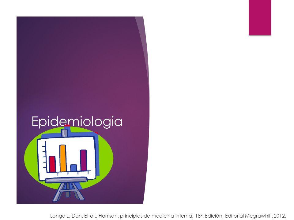 Epidemiologia Longo L, Dan, Et al., Harrison, principios de medicina interna, 18ª. Edición, Editorial Mcgrawhill, 2012,