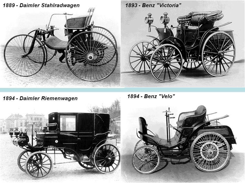1889 - Daimler Stahlradwagen1893 - Benz
