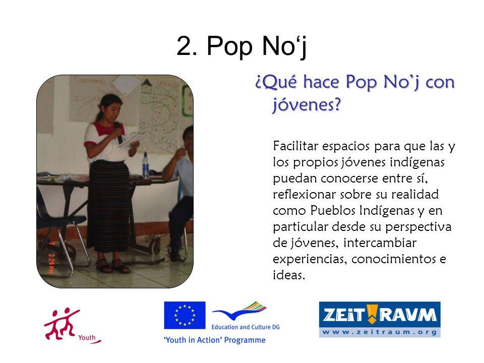 2.Pop Noj ¿Qué hace Pop Noj con jóvenes.