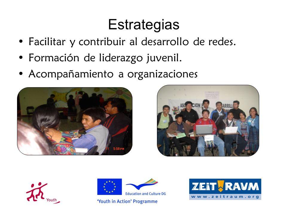 Estrategias Facilitar y contribuir al desarrollo de redes.