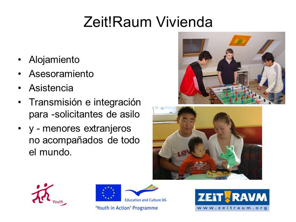 Zeit!Raum Vivienda Alojamiento Asesoramiento Asistencia Transmisión e integración para -solicitantes de asilo y - menores extranjeros no acompañados de todo el mundo.