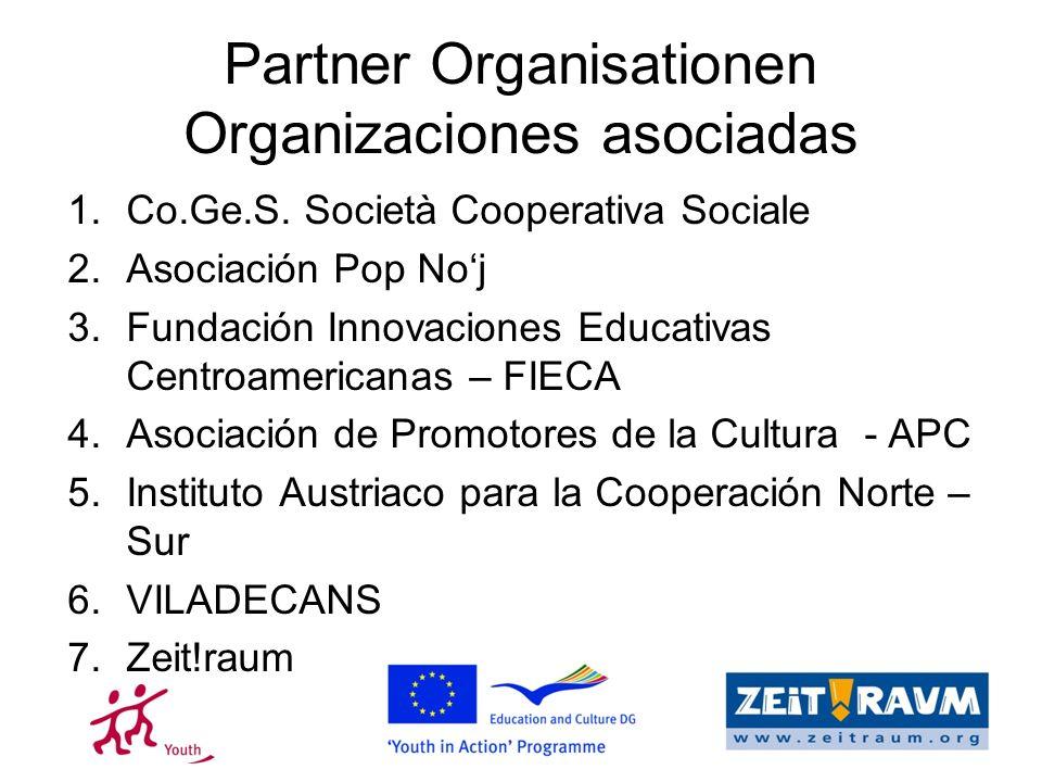 Partner Organisationen Organizaciones asociadas 1.Co.Ge.S.