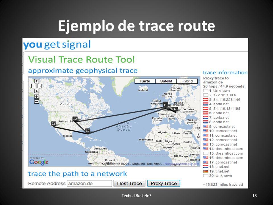 Ejemplo de trace route TechnikBasteln®13