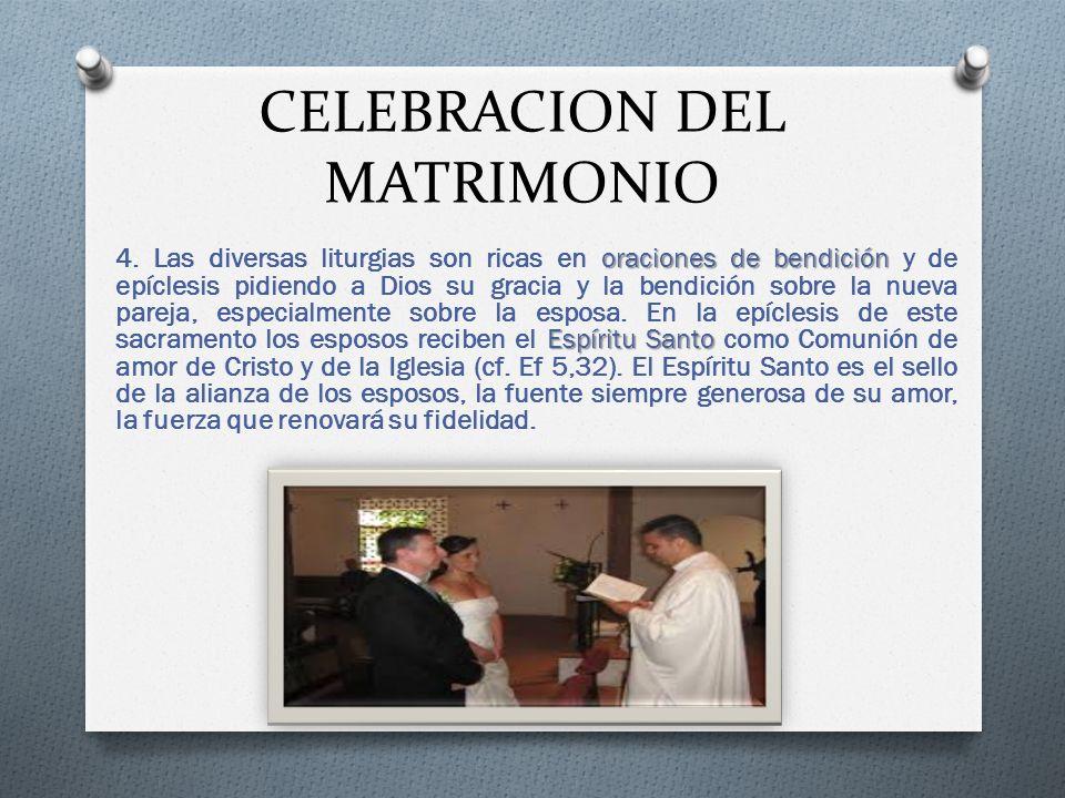 CELEBRACION DEL MATRIMONIO oraciones de bendición Espíritu Santo 4.