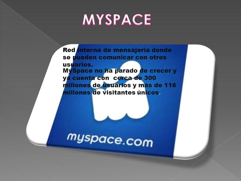 Red interna de mensajería donde se pueden comunicar con otros usuarios.