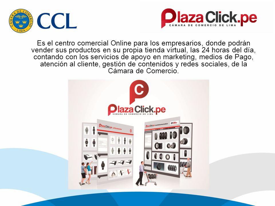 Es el centro comercial Online para los empresarios, donde podrán vender sus productos en su propia tienda virtual, las 24 horas del día, contando con