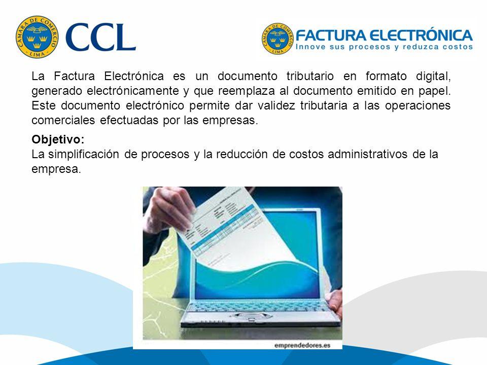 La Factura Electrónica es un documento tributario en formato digital, generado electrónicamente y que reemplaza al documento emitido en papel. Este do