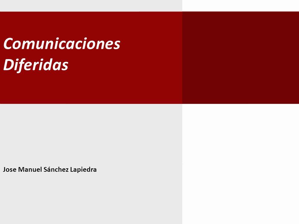 Comunicaciones Diferidas Actualmente en Internet existen varios métodos de comunicación interpersonal, los cuales se pueden clasificar en familias: Donde emisor y receptor se encuentran a la vez presentes.