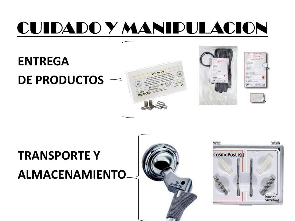 CUIDADO Y MANIPULACION ENTREGA DE PRODUCTOS TRANSPORTE Y ALMACENAMIENTO