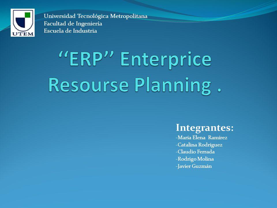 Los sistemas de planificación de recursos empresariales (ERP), son sistemas de información gerenciales que integran y manejan muchos de los negocios asociados con las operaciones de producción y de los aspectos de distribución de una compañía comprometida en la producción de bienes o servicios.