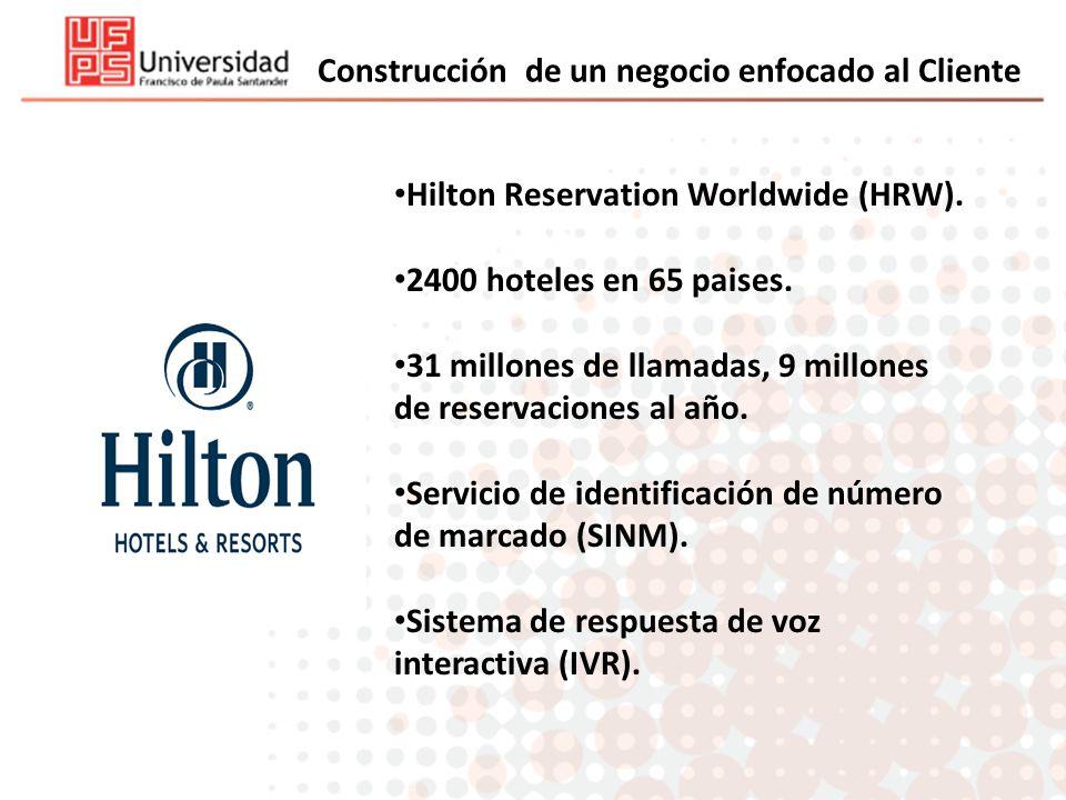 Construcción de un negocio enfocado al Cliente Hilton Reservation Worldwide (HRW). 2400 hoteles en 65 paises. 31 millones de llamadas, 9 millones de r
