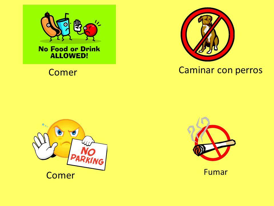 Comer Caminar con perros Comer Fumar