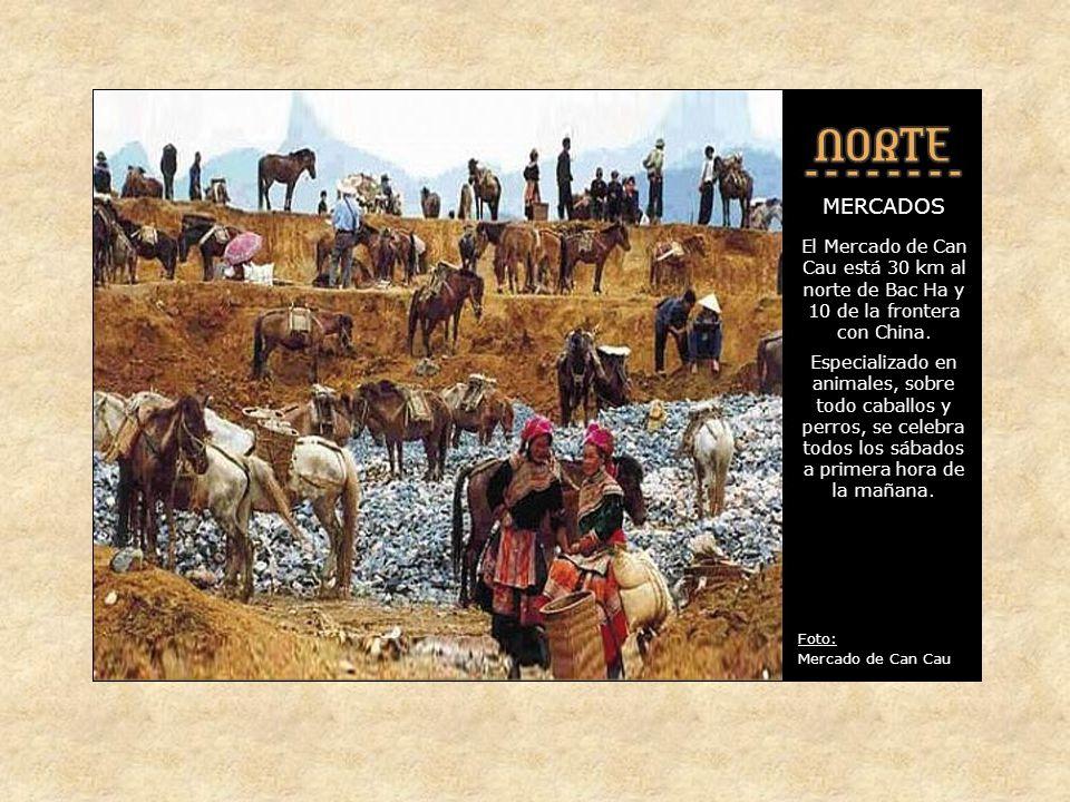MERCADOS Si bien en Bac Ha el grupo mas numeroso es el de los HMong- floreados, al mercado acuden gentes de muchas otras tribus de la zona.
