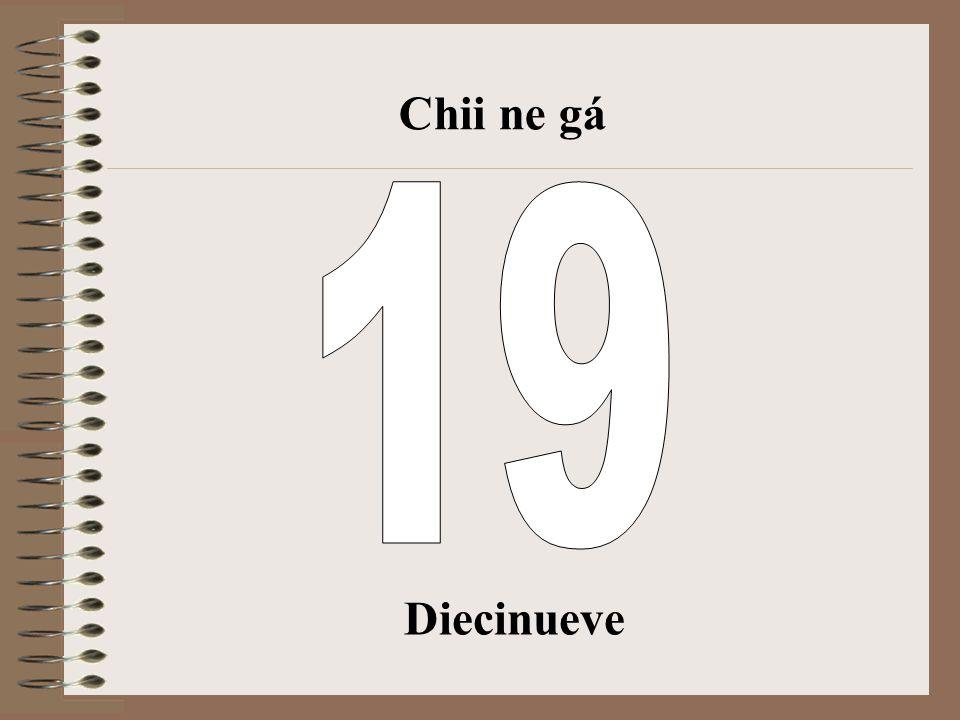 Dieciocho Chii ne xhono
