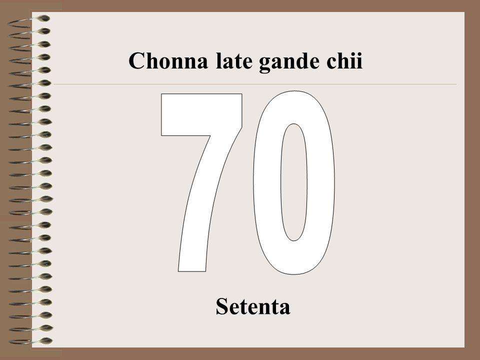 Sesenta Chonna late gande