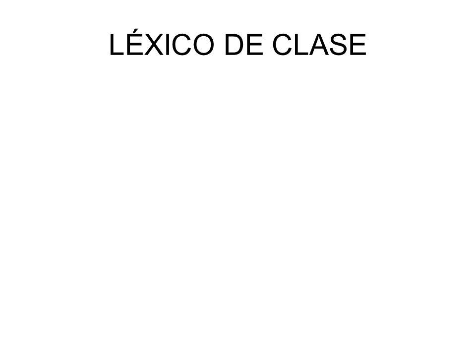 LÉXICO DE CLASE