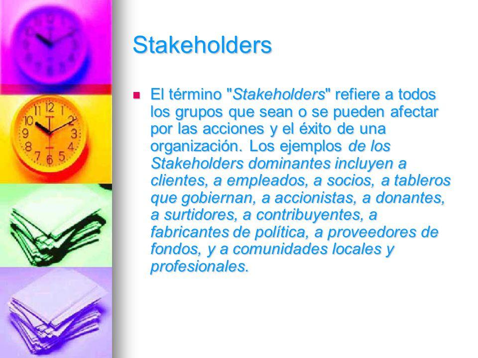 Stakeholders El término
