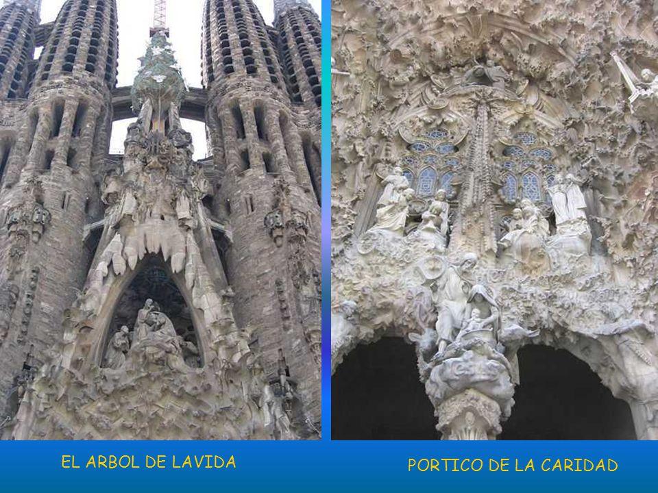 En 1926, cuando murió Gaudí, sólo se había construido una torre. Del proyecto del edificio sólo se conservaban planos y un modelo en yeso que resultó