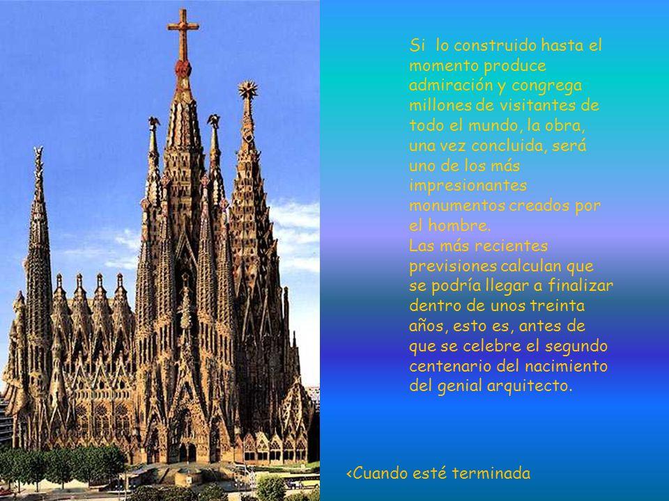 A la edad de 31 años Gaudí se hizo cargo de la obra de este Templo, tras la dimisión del arquitecto inicial Francisco de Paula Villar, cuando ya se ha
