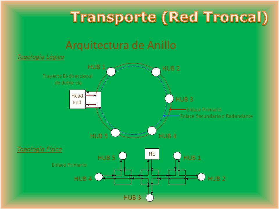 De Estrella (Areas Pequeñas / Baja densidad de usuarios) Características: Diferentes señales de ingreso (canales) para cada Hub. Generalmente usa meno