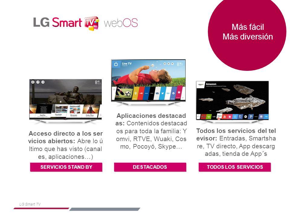 LG Smart TV LG Smart TV interfaz sencilla e intuitiva.