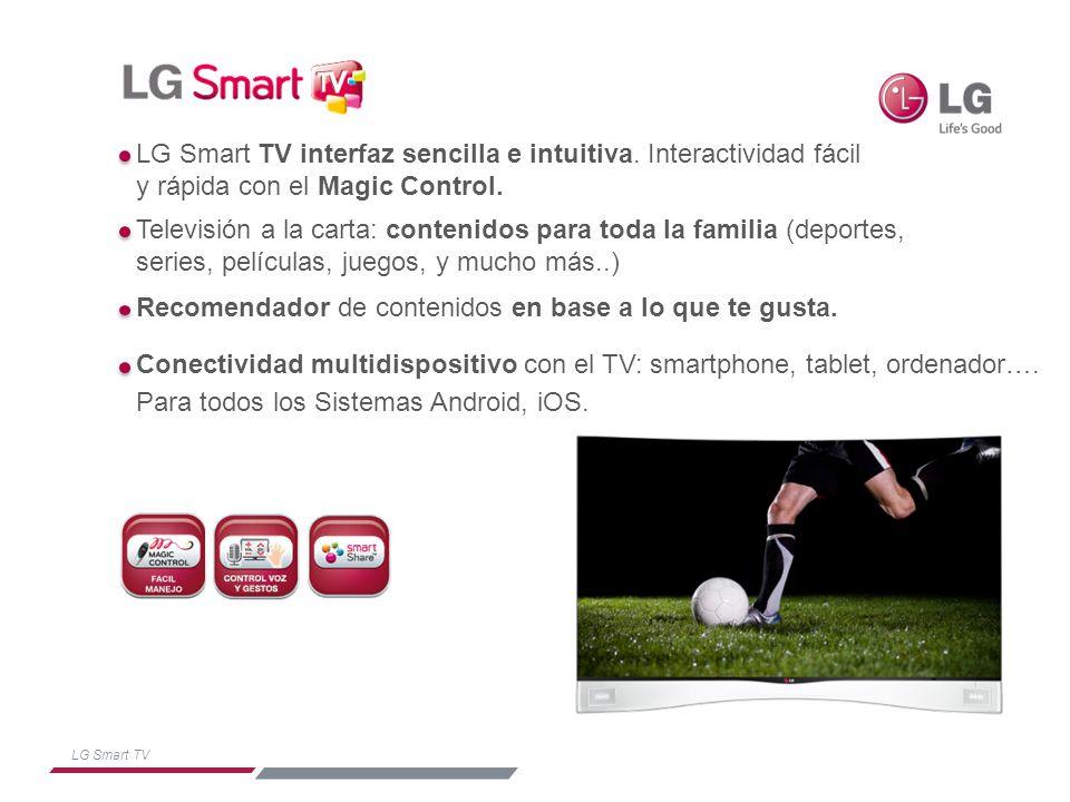 LG Smart TV Televisión a la carta.Películas, deportes, series y mucho más.