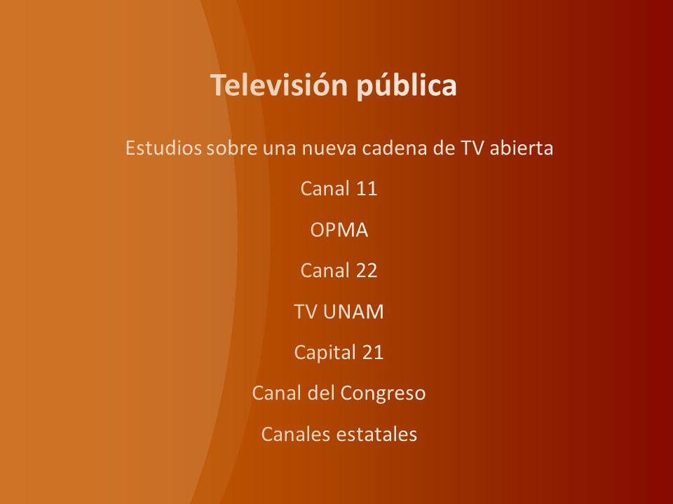 Televisión en los estados Existen 24 estaciones públicas que operan en los diferentes estados del país a través de un permiso, con fondos surgidos de los gobiernos estatales.